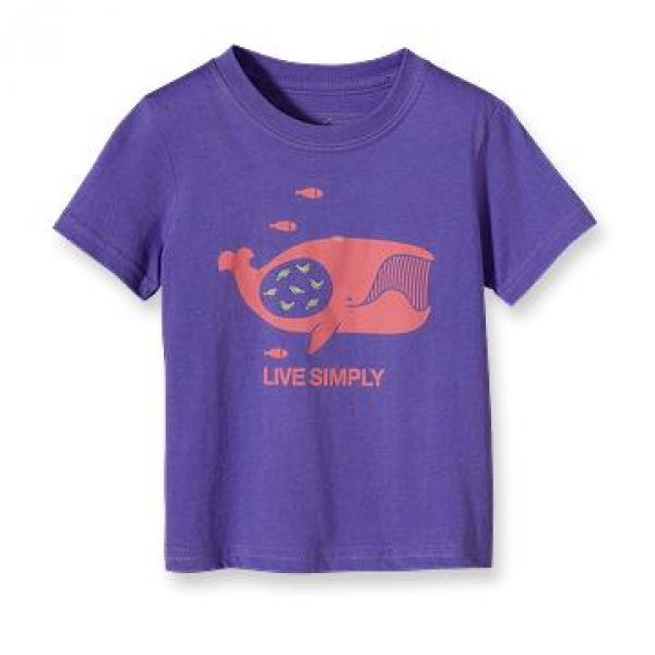 "Patagonia Baby ""Live Simply"" Whale & Friends T-Shirt"