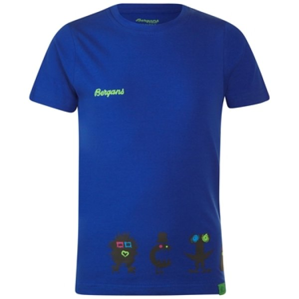 Bergans Kinder T-Shirt Monsters Kids Monster Tee cobalt blue
