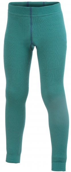 woolpower Long Johns 200g lange Merino Unterhose für Kinder turtle green