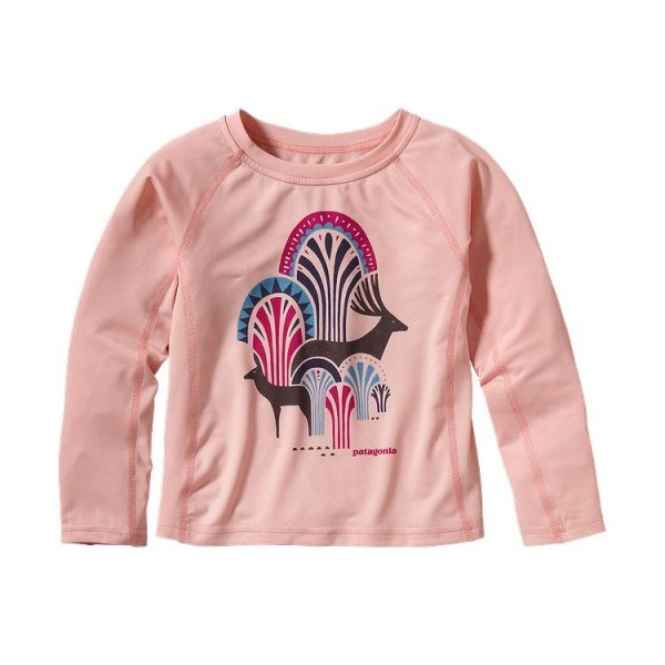 Patagonia Baby Capilene 1 Silkweight Crew Feather Pink